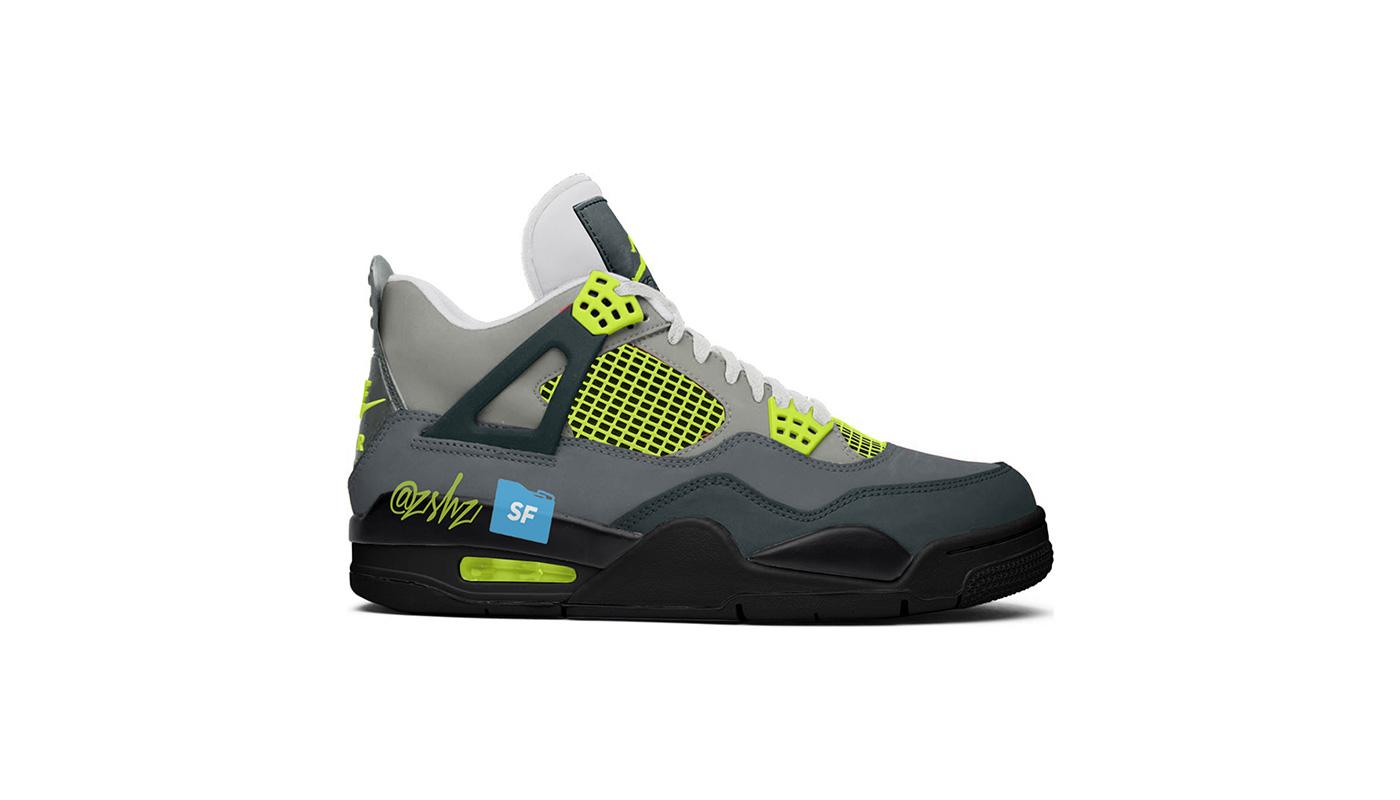 100% authentique eecb6 12e0c Air Jordan 4 Neon Volt - Le Site de la Sneaker