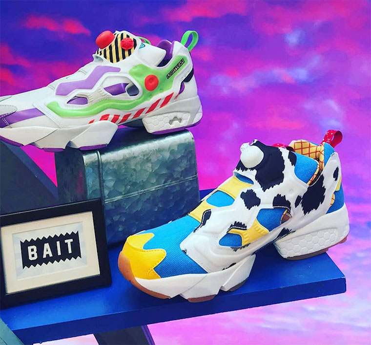 Preview: BAIT x Reebok InstaPump Fury Toy Story 4 Pack Le