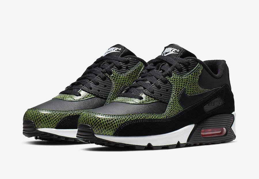 nike air max 90 green black