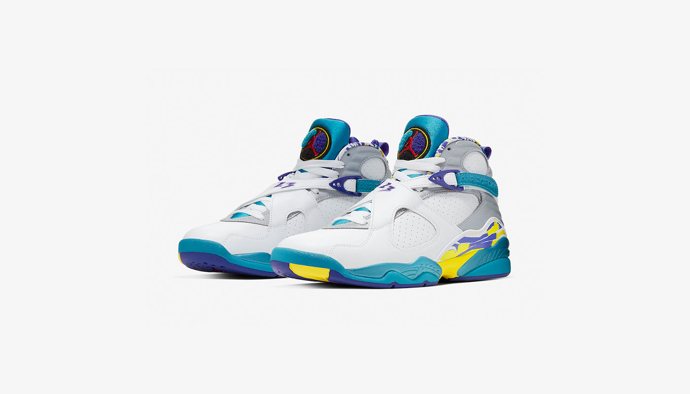 énorme réduction 82843 8d7d1 Air Jordan 8 WMNS White Aqua