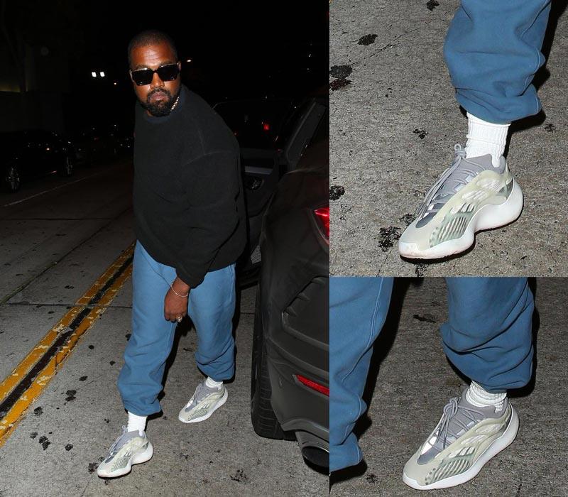 Kanye West aperçu avec une nouvelle adidas Yeezy Le Site