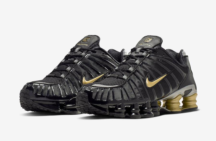 Neymar x Nike Shox TL Black Metallic Gold