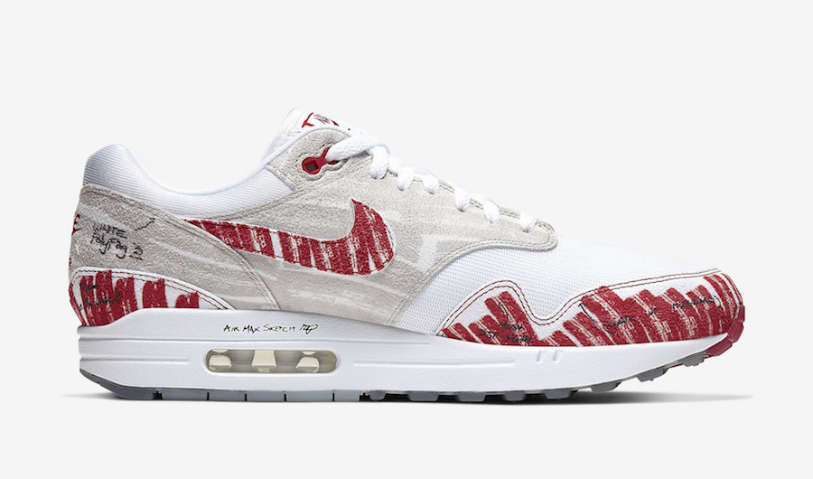 Nike Air Max 1 'Sketch To Shelf' White Red