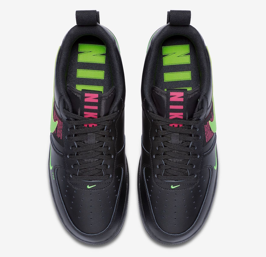 Preview: Nike Air Force 1 LV8 Black Pink Scream Green Le