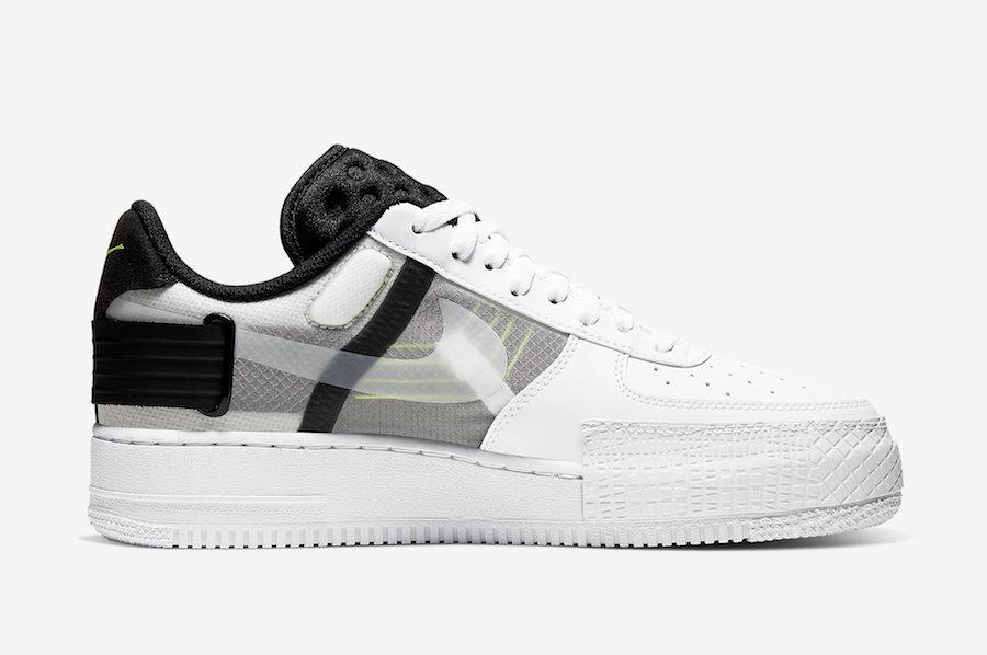 Preview: Nike Air Force 1 Type WhiteBlackVolt Le Site de