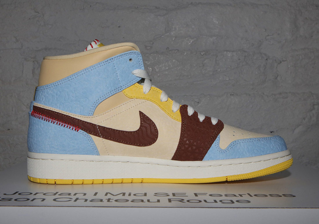 air jordan bleu jaune marron