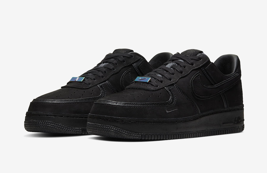 Nike Air Force 1 Low Black Nubuck Le Site de la Sneaker