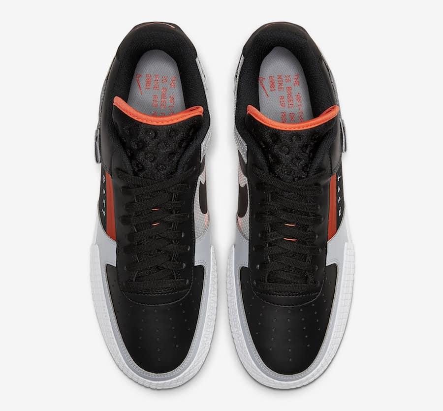 Preview: Nike Air Force 1 Type Black Crimson Le Site de la