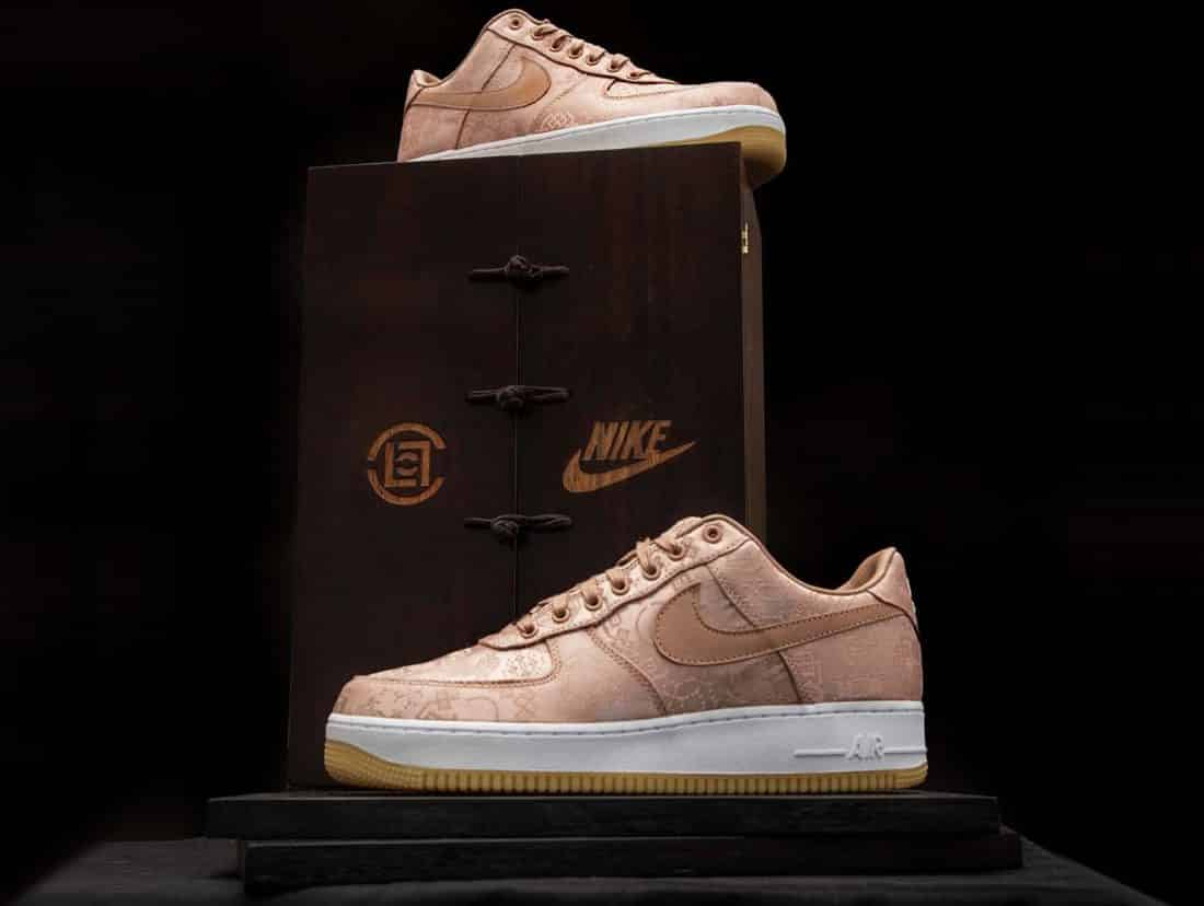 nike air force 1 blanche et rose gold
