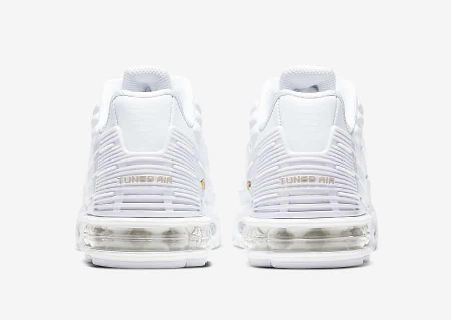 Preview: Nike Air Max Plus 3 Triple White Le Site de la