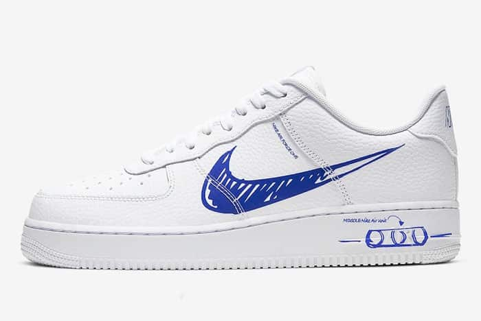 Nike Air Force 1 Low Sketch White Blue