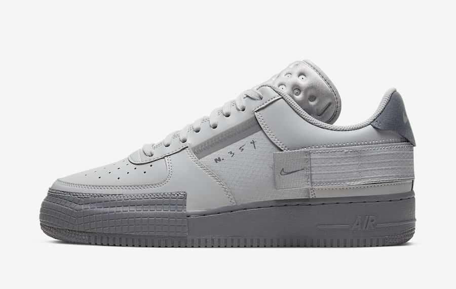 Preview: Nike Air Force 1 Low Type Grey Fog Le Site de la