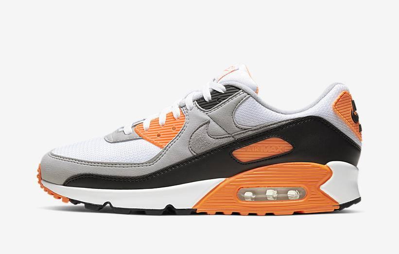 air max 90 blanche et orange