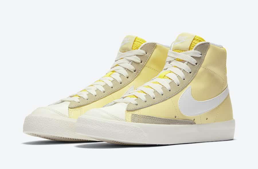 Nike Blazer Mid WMNS Opti Yellow - Gov