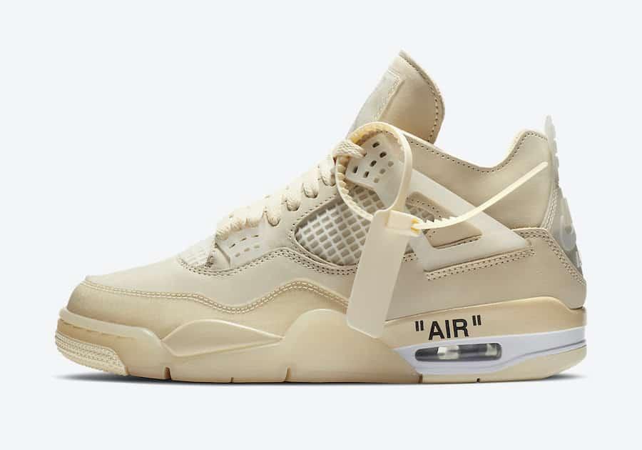 Off-White x Air Jordan 4 Sail - Le Site de la Sneaker