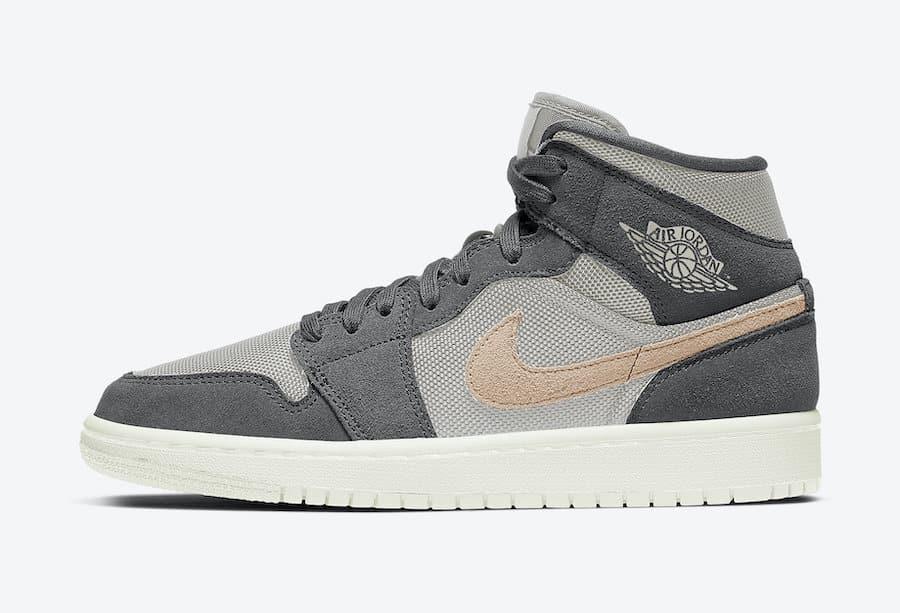 Preview: Air Jordan 1 Mid WMNS Grey Mesh Le Site de la Sneaker
