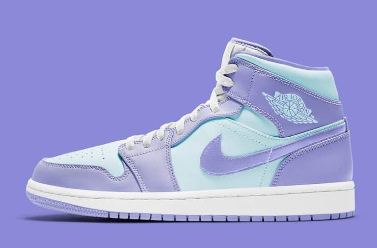 Une nike air jordan glow in the dark shoes Mid Purple Aqua en ...