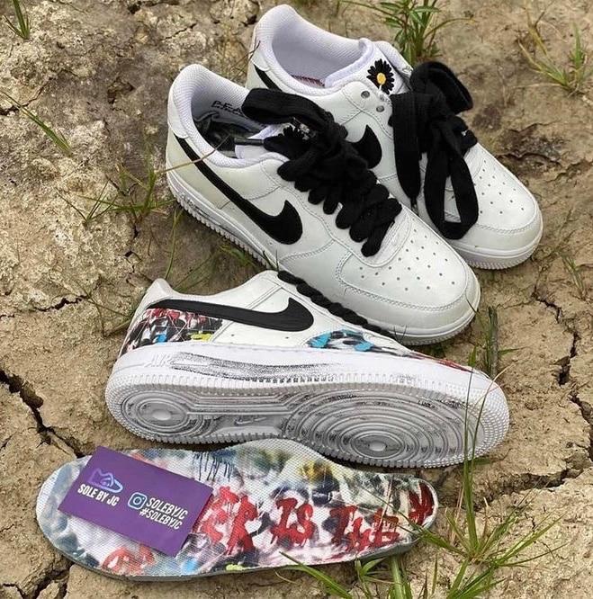 Preview: Peaceminusone x Nike Air Force 1 Para noise White