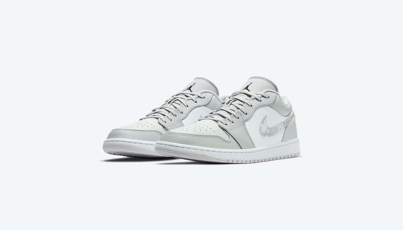 Preview: Air Jordan 1 Low White Camo - Zemeds