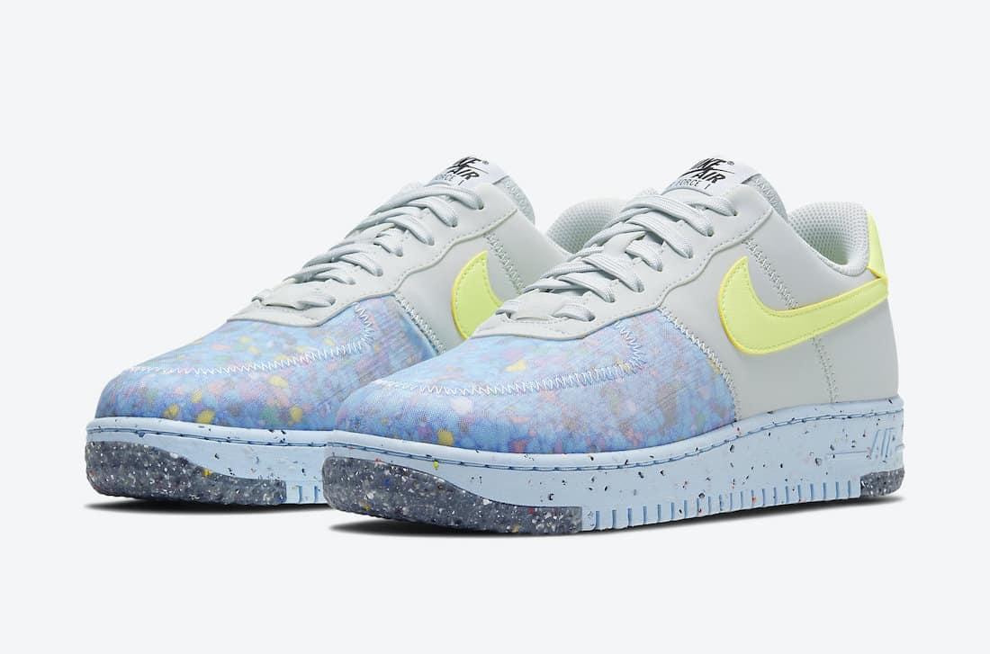 Nike Air Force 1 Crater Pure Platinum & Black - Le Site de la Sneaker