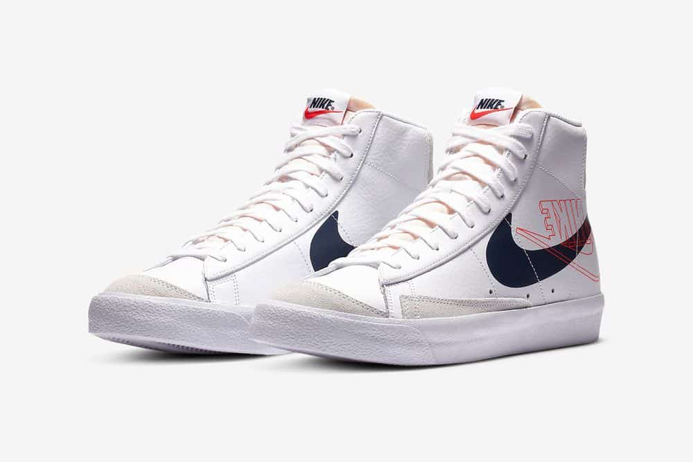 Nike Blazer Mid '77 White Midnight Navy - Le Site de la Sneaker
