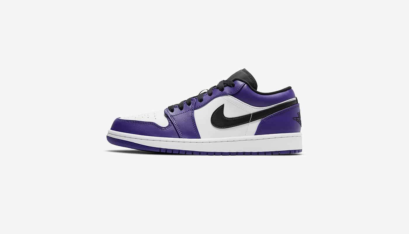 Air Jordan 1 Low Court Purple White - Le Site de la Sneaker