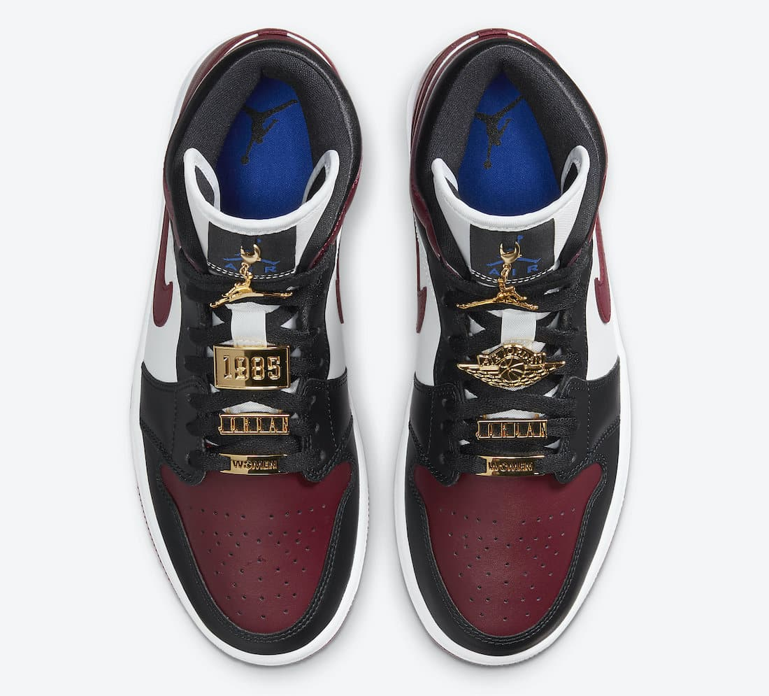 Air Jordan 1 Mid WMNS Gold Pendants - Le Site de la Sneaker