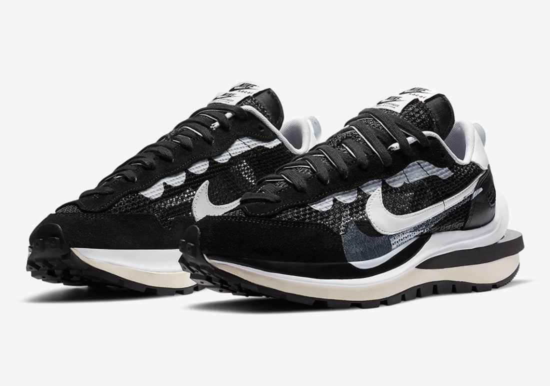 sacai x Nike Vaporwaffle Black White - Le Site de la Sneaker