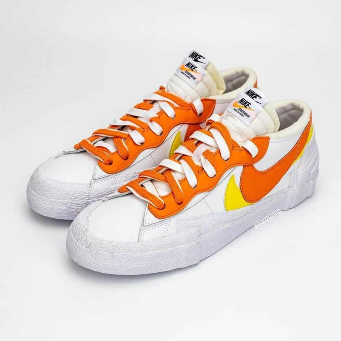 "sacai x Nike Blazer Low ""Magma Orange"""