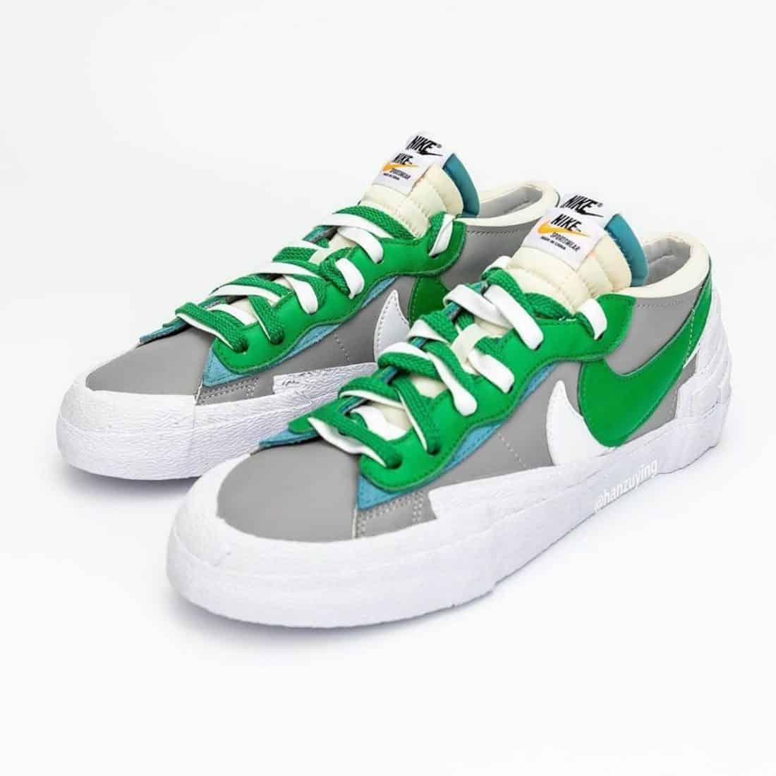 """sacai x Nike Blazer Low """"Classic Green"""""""