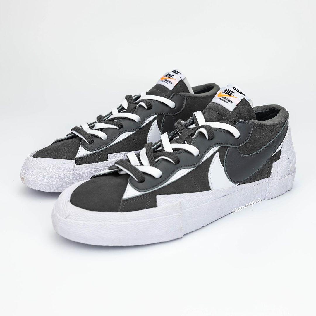"""sacai x Nike Blazer Low """"Dark Grey"""""""