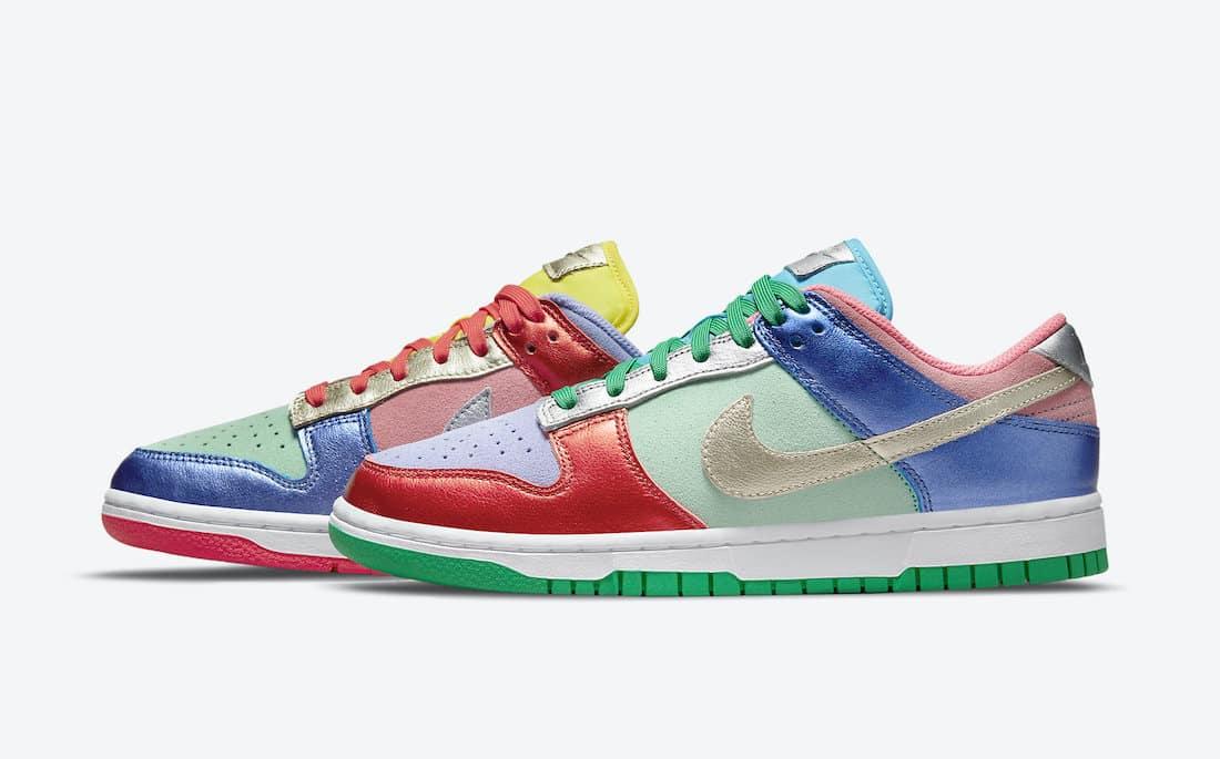 Nike Dunk Low « Metallic Multi-Color »