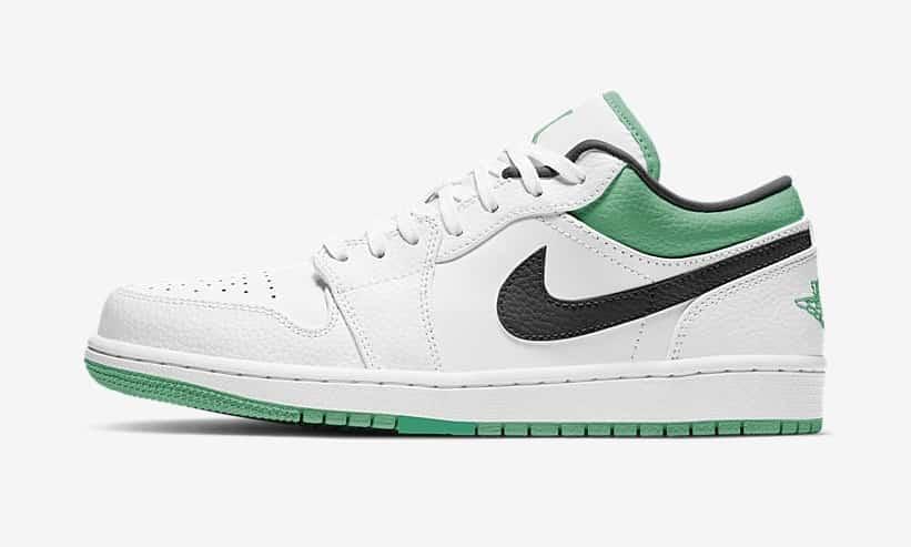 Air Jordan 1 Low « White/Black/Green »