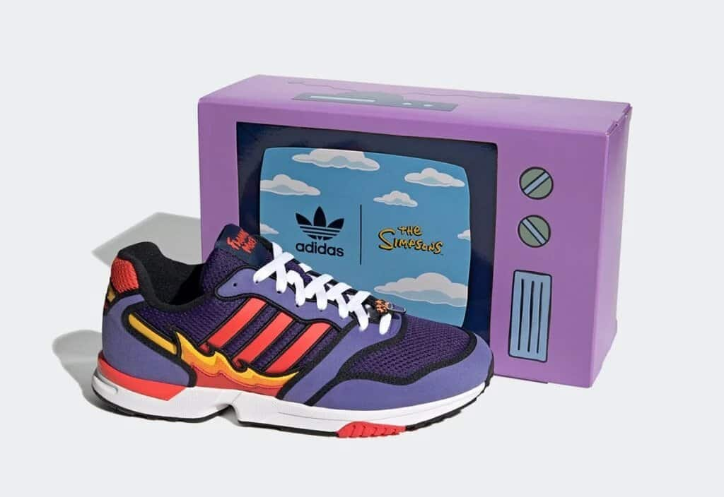 """The Simpsons x adidas ZX 10000 """"Flaming Moe's"""""""