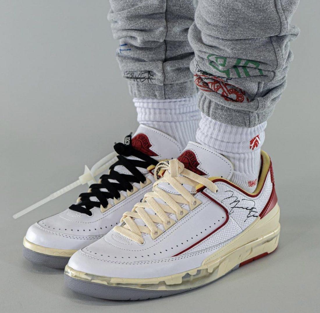 Off-White x Air Jordan 2 Low «White/Red»
