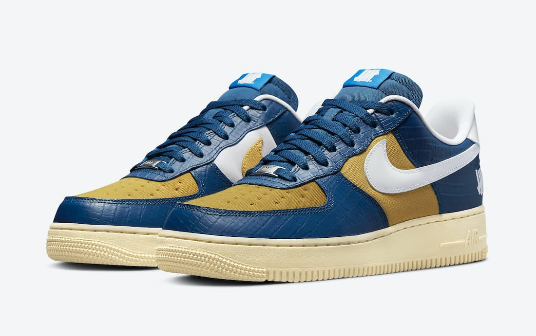 Undefeated x Nike Air Force 1 Low «5 On It» Blue Croc