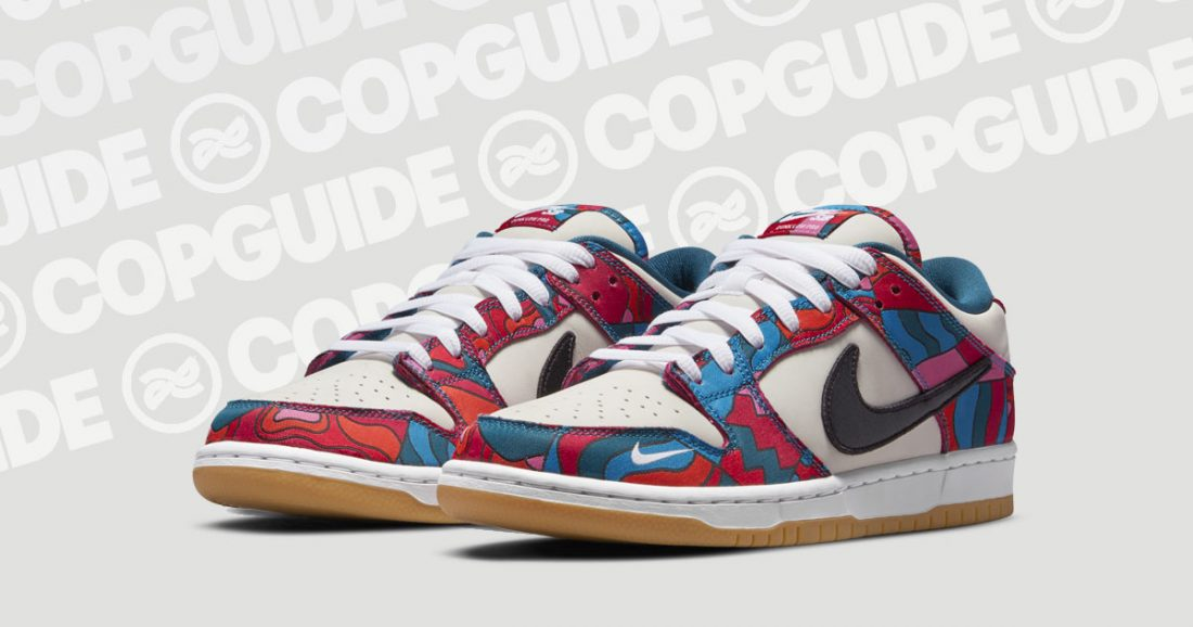 cop guide nike sb dunk low parra abstract art 1100x578