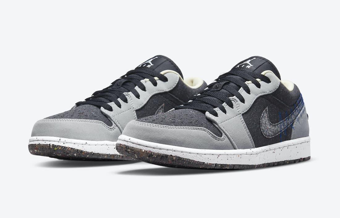 Air Jordan 1 Low Crater «Black Grey»